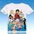 One piece luffy chopper robin camiseta anime japonês famoso animação novidade verão t-shirt traje cosplay clothing