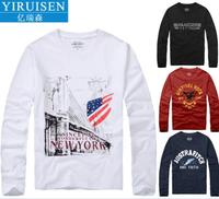 YiRuiSen Mens T Shirts Fashion Brand Clothing Arrival Autumn Winter Hollistic Long Sleeve T Shirt Men