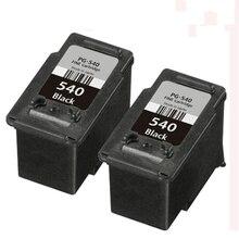 2x Black PG-540 PG540 pg 540 ink cartridge For pixma MG3155 MG3200 MG3255 MG3500 MG3550 MG4100 MG4150 MG4250 MX375 MX395