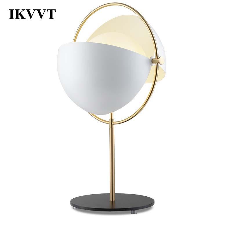 IKVVT Adjustable Desk Light G9 Black White Coppery Office Table Lamp Student Reading Lamps Modern Minimalism Desk Lights