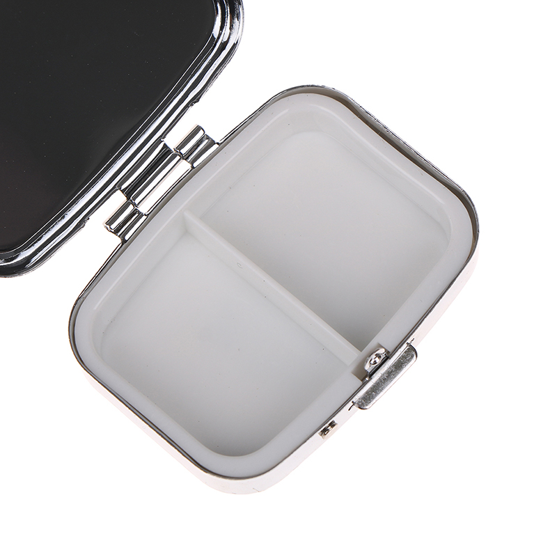 Portable Two Grid Compartment Pill Box Organizer for Travel for Safe Storage of Pills 3