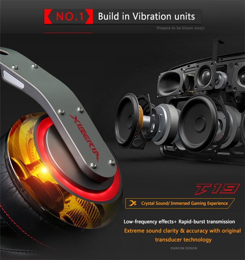 USB Gaming Headphones with Micrphone 7.1 Surround Sound Stereo Glowing Headset (10)