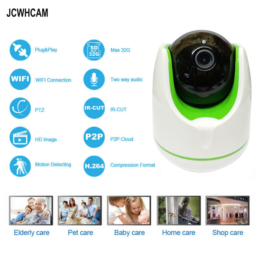 JCWHCAM IP Camera 1MP 960P WiFi Wireless IP Camera CCTV Security Camera Two Way Audio Baby Monitor Easy QR CODE Scan Connect jcwhcam 720p ptz wifi ip camera wireless home security cctv surveillance camera p2p ir infrared two way audio baby monitor