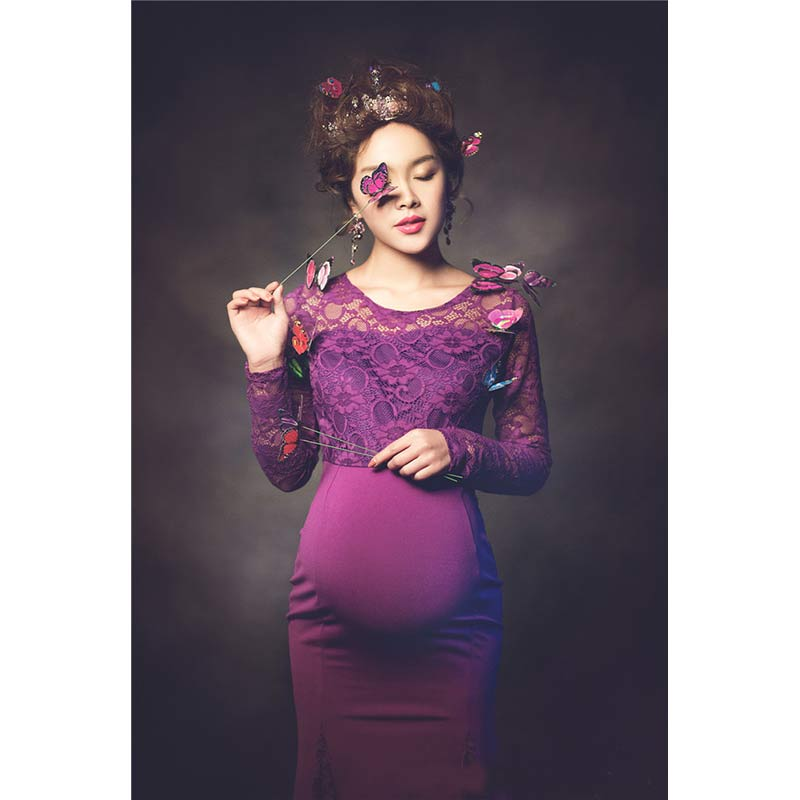 ФОТО Maternity Photography Props Clothes For Pregnant Women Dress Pregnancy clothes photography long maternity dress