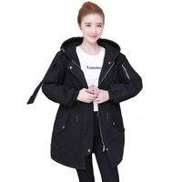WAEOLSA Thời Trang Người Phụ Nữ Mùa Đông Trùm Đầu Puffer Áo Womens Casual Hood Phun Cơ Bản Coat Lady Đen Độn Choàng Ovesize Parkas
