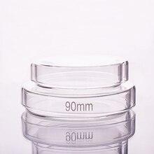 10 sztuk płytki petriego, średnica 60mm/75mm/90mm/100mm/120mm/150mm/180mm, wysokiej jakości szkło borokrzemowe, naczynie kultury wysokiej temperatury