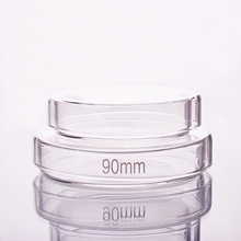 10pcs Petri piatto, diametro 60mm/75mm/90mm/100mm/120mm/150mm/180mm, di vetro ad alta borosilicato, Ad Alta temperatura cultura piatto