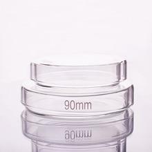 Placa de petri de 10 pces, diâmetro 60mm/75mm/90mm/100mm/120mm/150mm/180mm, vidro de borosilicato alto, prato de alta temperatura da cultura