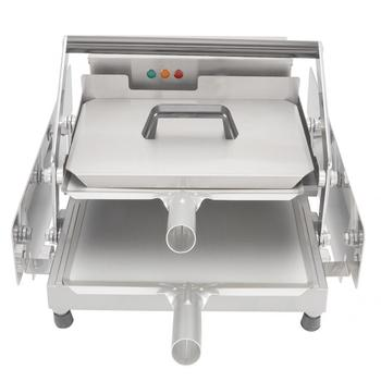 Tostadora De Pan De panadería, máquina De doble capa para calentar panecillos De hamburguesa, máquina automática para Pan Tostadora Breskfast