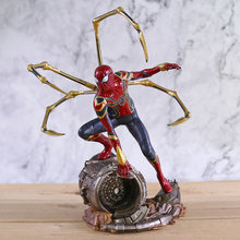 Estúdios de ferro De Ferro Maravilha Spiderman Avengers Endgame 1/10 Scale PVC Figura Collectible Toy Modelo(China)