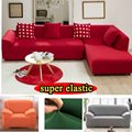 elastic sofa cover towel solid color slipcover Armchair Couch body cover flexible Washable cotton l shaped corner sofa cover