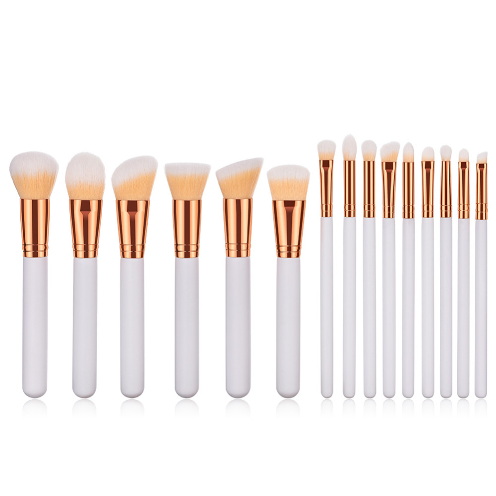 Professional Make Up Brush Set Eyebrow Eyeshadow Eye Blending Brush Gold Aluminum Soft Hair Foundation Powder Makeup Brushes