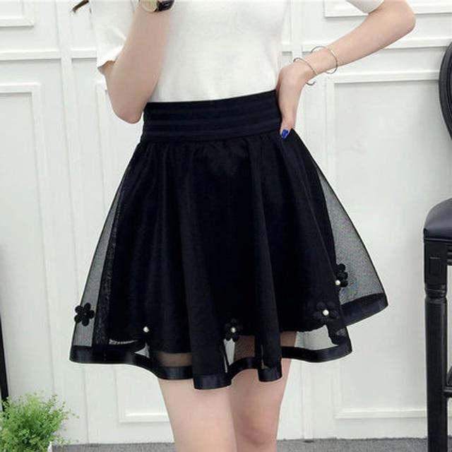 Harajuku 2018 Women Fashion Summer High Waist Pleated Skirt Cosplay Kawaii Fashion Sexy Girl Mini Skirt 1
