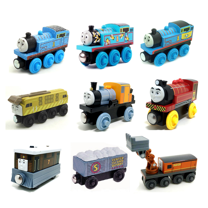 w22 Free shipping Rare Thomas and Friends Wooden Magnet Train Model Gordon, DIESEL 10, Victor, TOBI, Marion, BASH Boy Toys