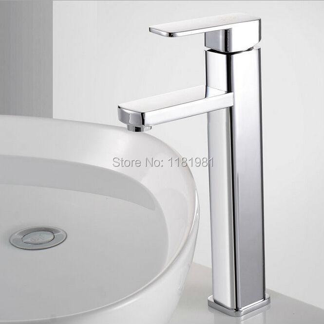 Hot selling tall Ceramic Plate Spool bathroom single handle  sink basin faucet C3005