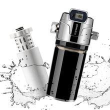 Miniwell l760 e201 душевой фильтр черный цвет с электронным
