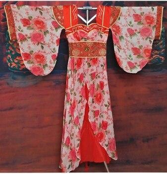 Classical Dance Costume Hanfu Fairy Yarn Chiffon Elegant Wide Sleeve Dance Costume for Women Stage Performance Hanfu
