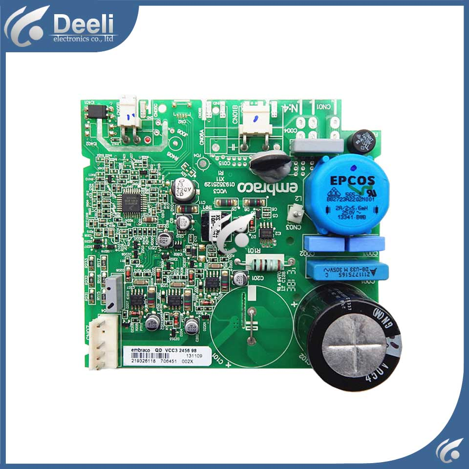 good working for Embraco refrigerator pc board Computer board used BCD-558WA BCD-558WYJZ 0064001350 Frequency conversion board good working used board for refrigerator computer board power module da41 00482j board