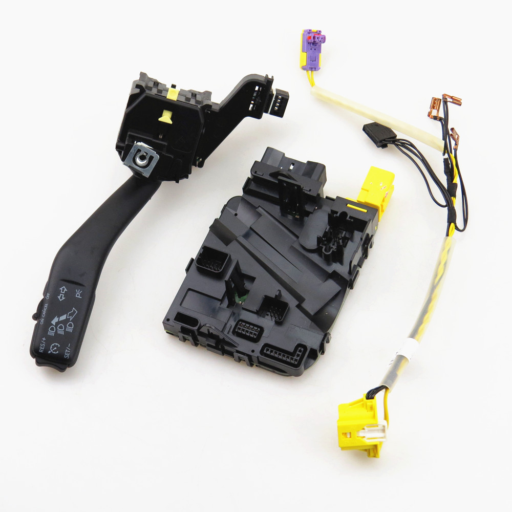 TUKE Steering Wheel Module + Harness & Switch Set 1K0 953 549 CH 5K0 971 584 C A For VW Jetta Golf MK5 MK6 Scirocco Jetta Tiguan tuke rns310 rns315 rcd510 rns510 oem vw tiguan connect the electric wire reversing camera module