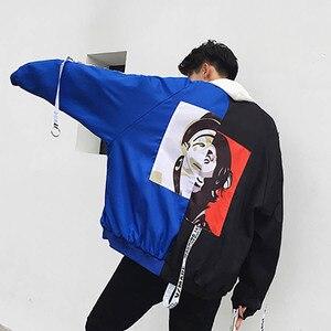 Мужская куртка-бомбер Letherman, ветровка в стиле хип-хоп, с принтом