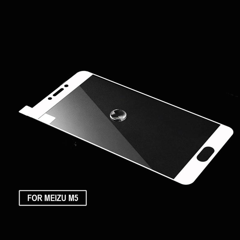 """imágenes para 10 unids/lote 9 h vidrio templado para el protector de pantalla meizu m5 cubierta completa para meilan m5 5.2 """"cubierta oleófuga protector película"""