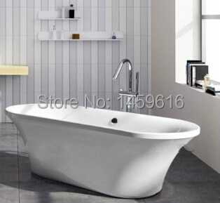 все цены на 1900mm Ellipse Freestanding Seamless Joint Bathtub Acrylic With ABS Composite Soaking Bath 6532C онлайн