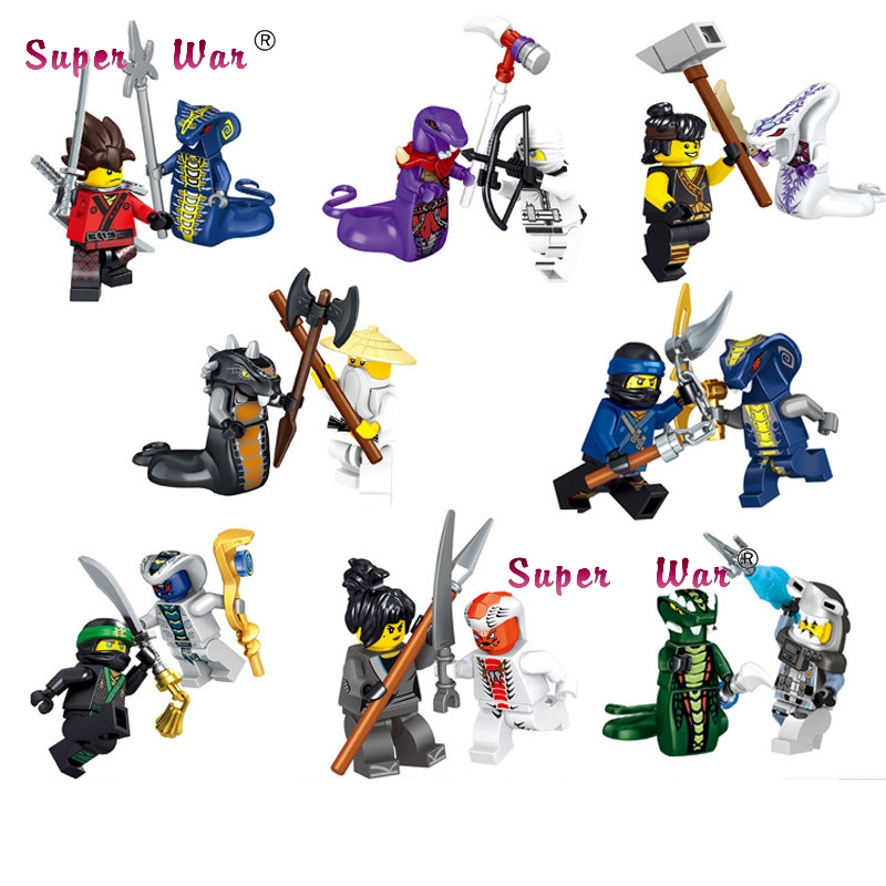 8pcs Star Wars The Last Jedi Clone Tooper Cunner New Phantom Golden Ninja Movie building blocks model bricks toy for children