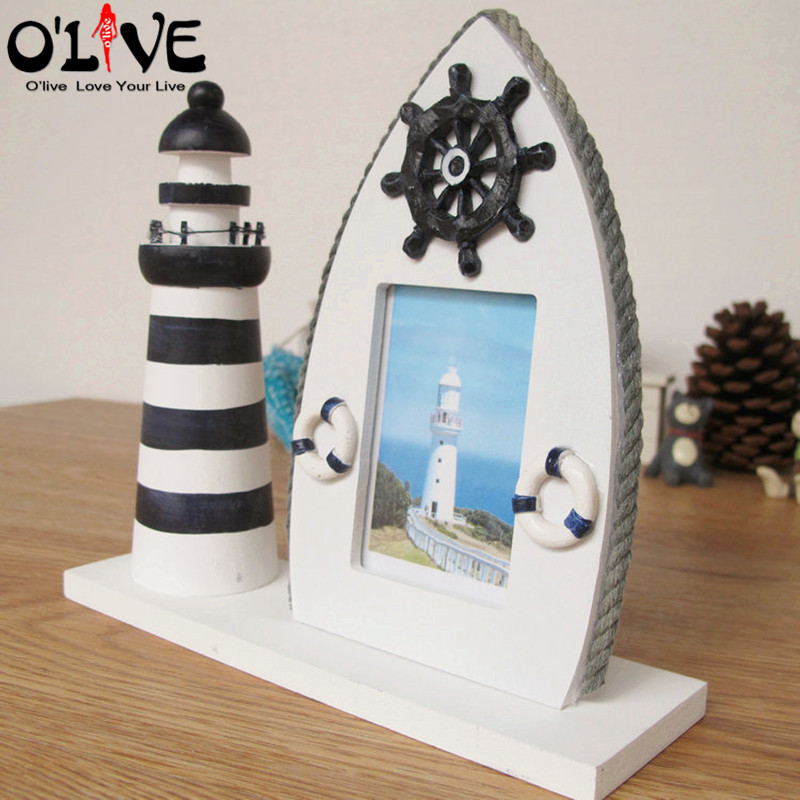 Wooden Photo Frame Mediterranean Style Picture Frames Craft