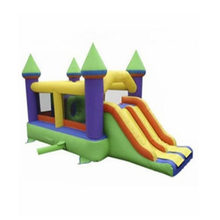 Customized amusement park equipment inflatable indoor playground inflatable fun city bounce house and slide combo