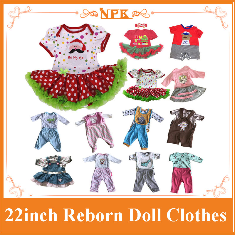 Good Price 22Inch Reborn Baby Doll Clothes For 55cm Silicone Reborn Baby Doll Hot Sell Doll Accessory For Lifelike Baby Doll full set top quality 60 cm pvc doll 1 3 girl bjd wig clothes shoes all included night lolita reborn baby doll wedding price shas