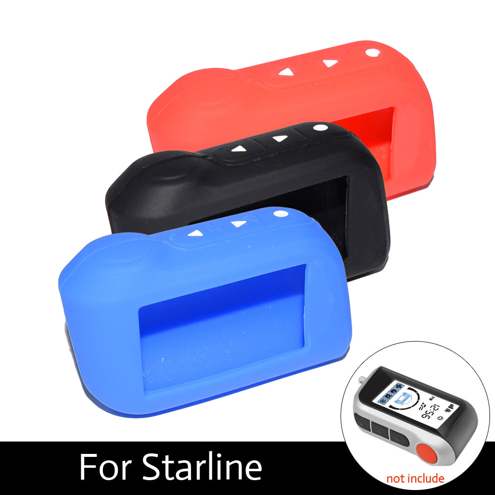 ATOBABI A93 Keychain Silicone Case Silica Gel Key Case for Starline A93 A63 A39 A36 A96 Car Alarm Remote Control LCD Transmitter a93 a96 keychain silicone cover key case for starline a93 two way car alarm remote controller a63 lcd transmitter