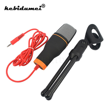 kebidumei Condenser Microphone 3.5mm Plug Home Stereo MIC Desktop Tripod Microphone for Skype Chatting Video Gaming Recording