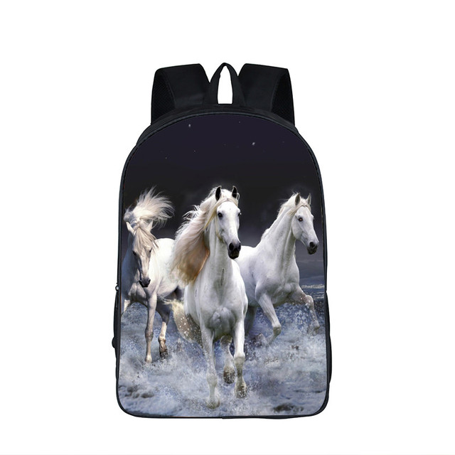 212271241e76 Children Animals School Bags Unicorn   Crazy Horse Backpack Rainbow Pony Bag  Backpack For Teenagers Boys