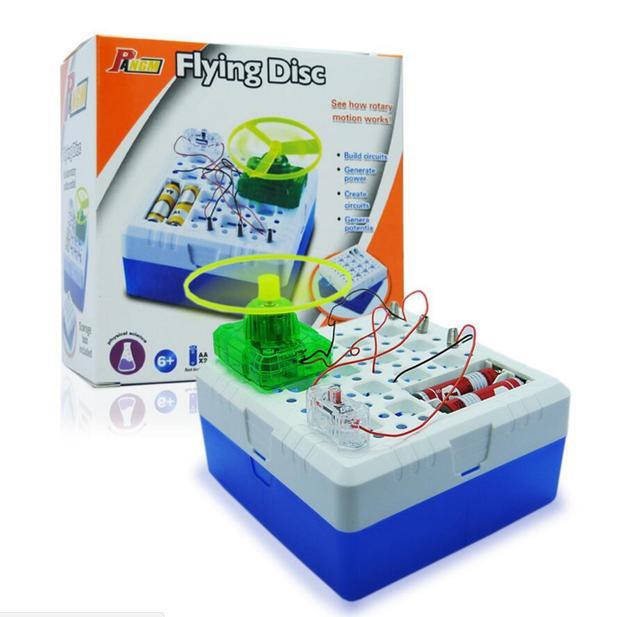 Bonito disco voador brinquedos educativos para crianças de ciência experimental de laboratório de física