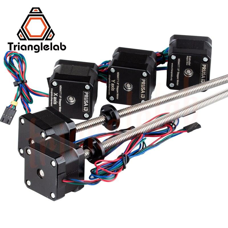 Trianglelab комплект всех моторов все моторы Nema17 leadвинт шаговые двигатели для 3D печати prusa i3 MK3 MK3s bear