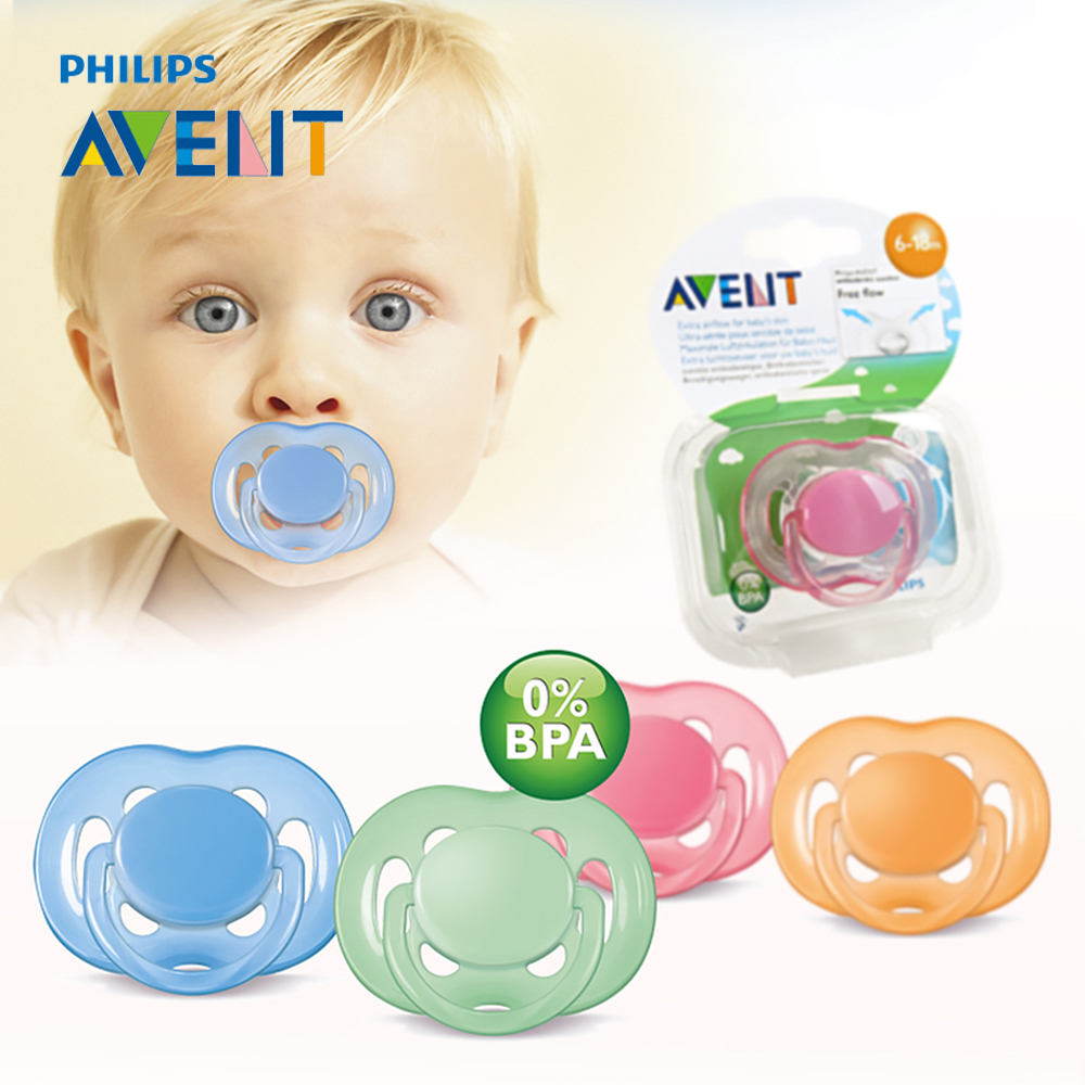 AVENT SCF178/14 Silicone Baby Pacifiers Infant Baby Nipple 6-18 Month Free Flow Teat Pacifier Feeding Soother Chupeta Pacifiers