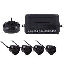 LED Car Auto Parktronic Sensor de Aparcamiento Con 4 Sensores de Reserva Del Revés Del Coche Del Radar Del Estacionamiento Sistema de Retroiluminación de Pantalla Del Monitor Del Detector