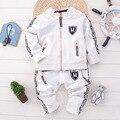 Roupa do bebê conjuntos de roupas meninos da criança roupa do natal de ação de graças com zíper manga longa preto branco moda infantil outerwear