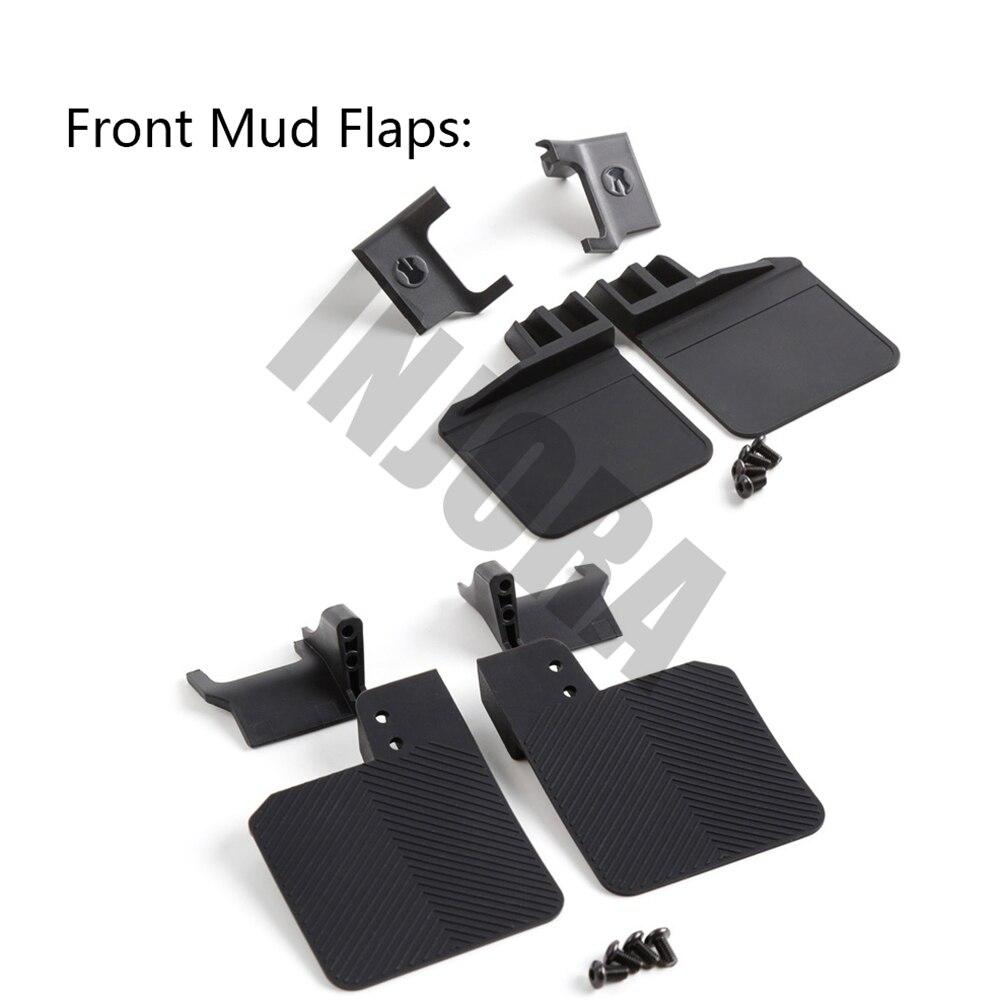 Image 3 - INJORA TRX4 RC Car Front & Rear Mud Flaps Rubber Fender for 1/10 RC Crawler Traxxas Trx 41/10 rcrc crawlercrawler rc 1/10 -