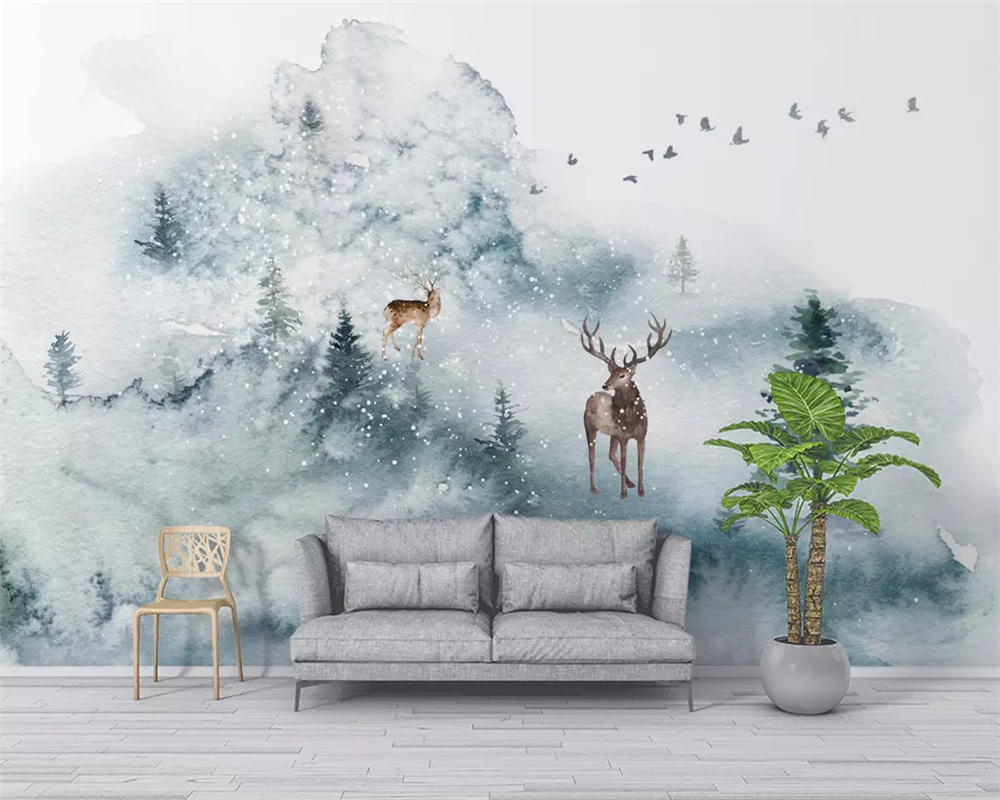 Behang Kinderkamer Scandinavisch : Beibehang custom papel de parede d behang kleine verse