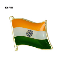 India Flag Pin Kerah Pin Lencana 10 Pcs Banyak Bros Ikon KS-0207(China)