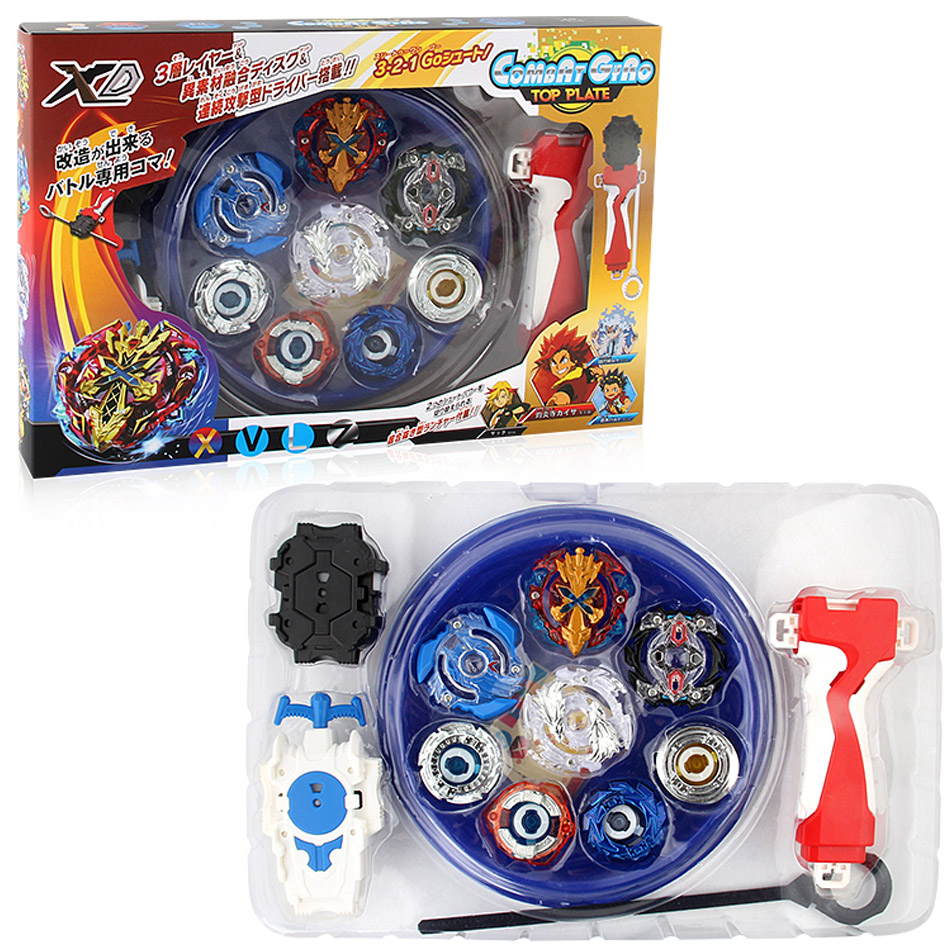 New 4PCS Boxed bayblade Beyblade Burst 4D Set With Launcher Arena Metal Fight Battle Fusion Classic Toys With Original Box топор fusion battle ax sog