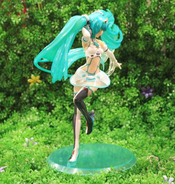 ФОТО Hatsune Miku Action Figure Miku Racing girl 2012 Ver. PVC Figure 19cm High Sexy Girls Toys Free Shipping