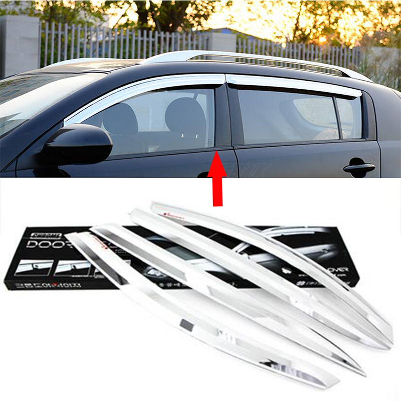 car styling 24 layer abs chrome car covers car covers window visor rain shield. Black Bedroom Furniture Sets. Home Design Ideas