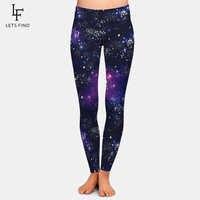 LETSFIND Fashion New Arrival 3D Galaxy Digital Print Girl Leggings Sexy Women High Waist Pants High Elastic Plus Size Leggings