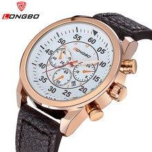 2016 nueva moda Casual hombres LONGBO reloj de marcas de lujo del cuarzo – hombres reloj de pulsera impermeable relojes deportivos Relogio Masculino 80210 G