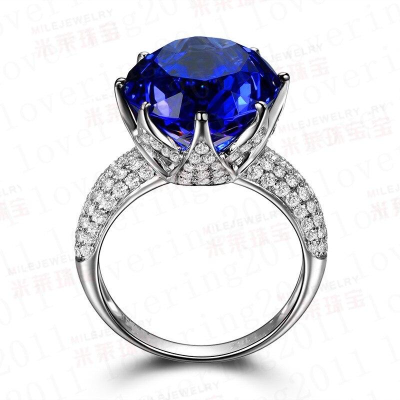 c41953d94d84 Choucong redondo corte 8ct piedra 5A ZIRCON piedra 925 plata esterlina anillo  de boda de compromiso para las mujeres SZ 5- 10
