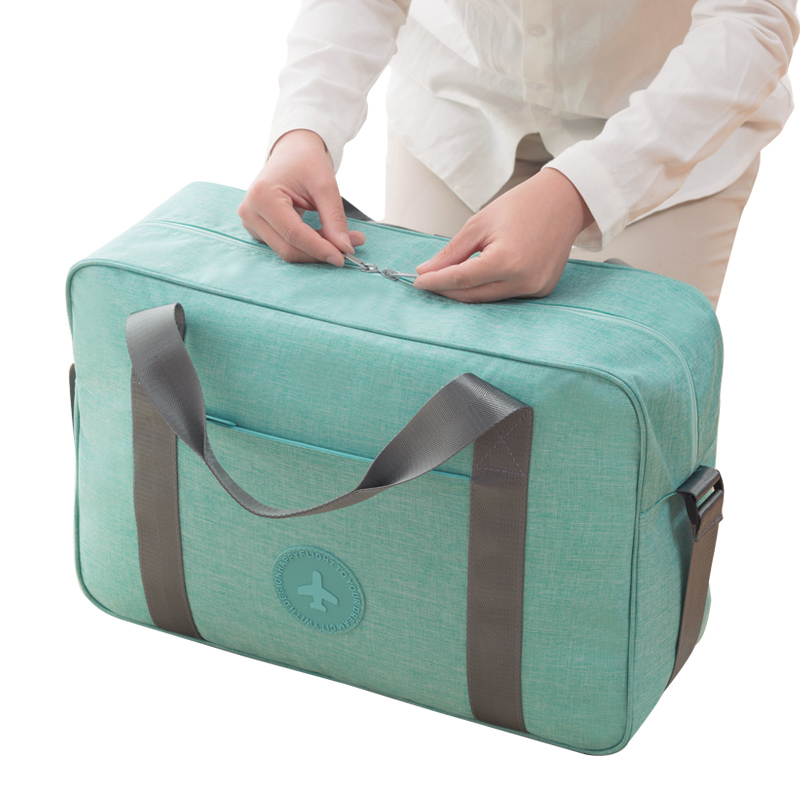 High Capacity Waterproof Oxford Travel Totes Men Women Unisex Portable Luggage Weekend Bag