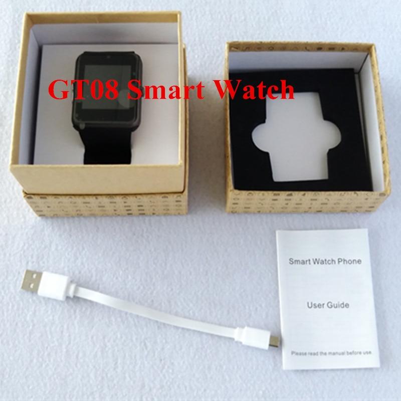 Bluetooth Smart Health GT08 Smart Watch With Sim Card font b Smartwatch b font For Apple