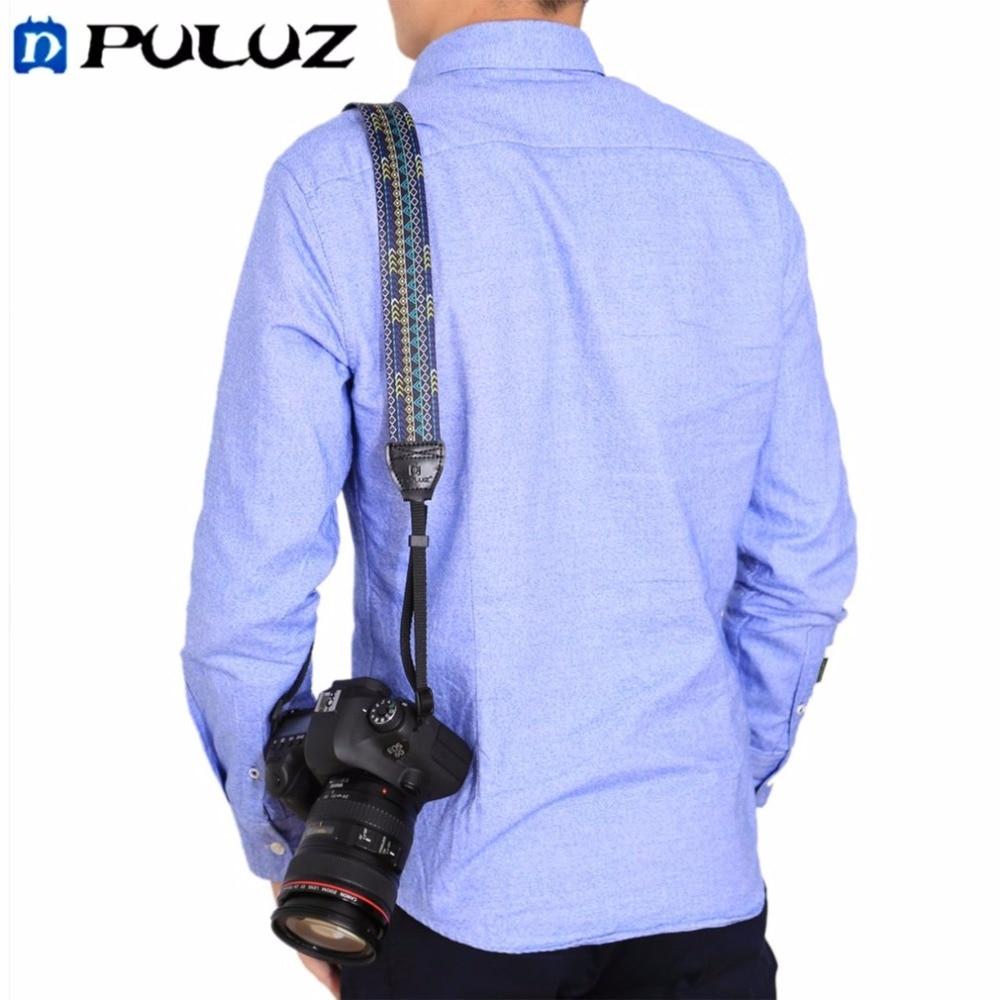 PULUZ Ethnic Style Camera Neck Shoulder Camera Strap Belt Soft Durable Cloth Strap for SLR/DSLR Cameras Drop Shipping